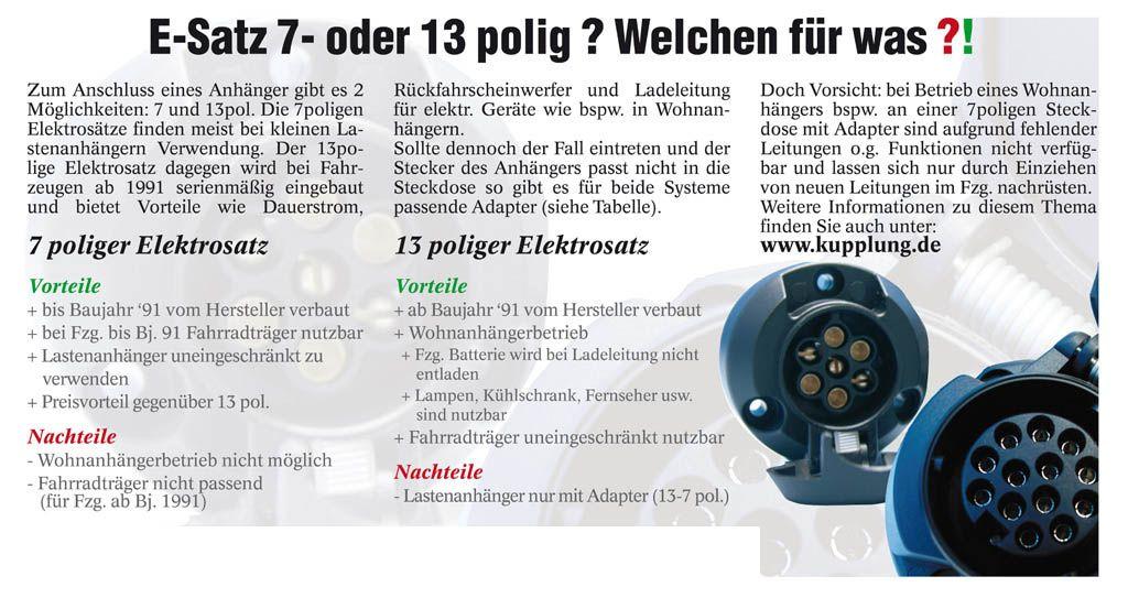 adapter f r pkw und anh nger 13 polig auf 7 polig adapter. Black Bedroom Furniture Sets. Home Design Ideas