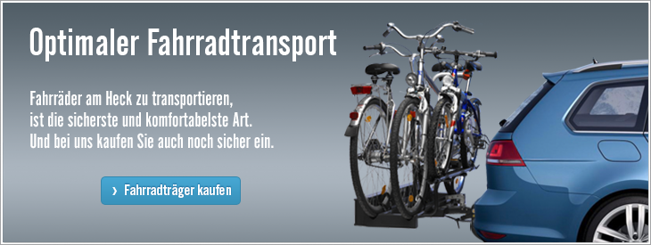 Optimaler Fahrradtransport