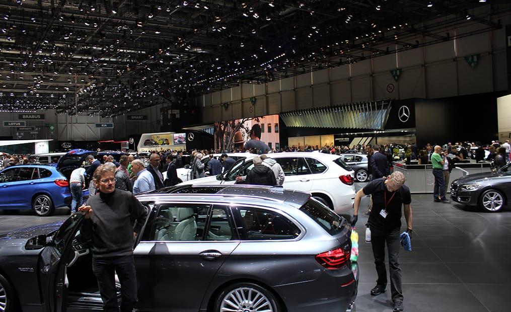 Am Messestand von Mercedes war besonders das neue Cabrio immer stark umlagert.