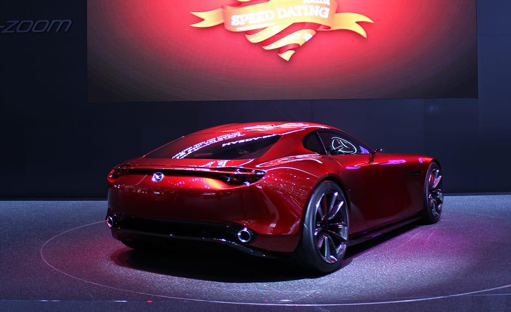 Mazda RX-Vision: Dieses herrliche Concept-Car kombiniert rassige Linien mit der neusten Weiterentwicklung des Wankelmotors.