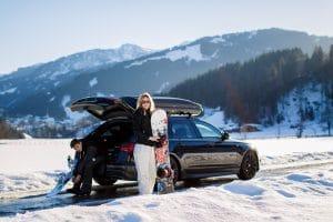 Sicher und komfortabel zum Wintersport - mit einer Dachbox