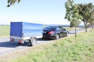 Gut verkuppelt: Benz und Anhänger