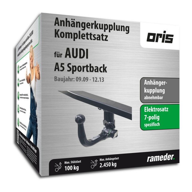 oris anh ngerkupplung audi a5 sportback abnehmbar 7pol elektrik bj 09 13. Black Bedroom Furniture Sets. Home Design Ideas