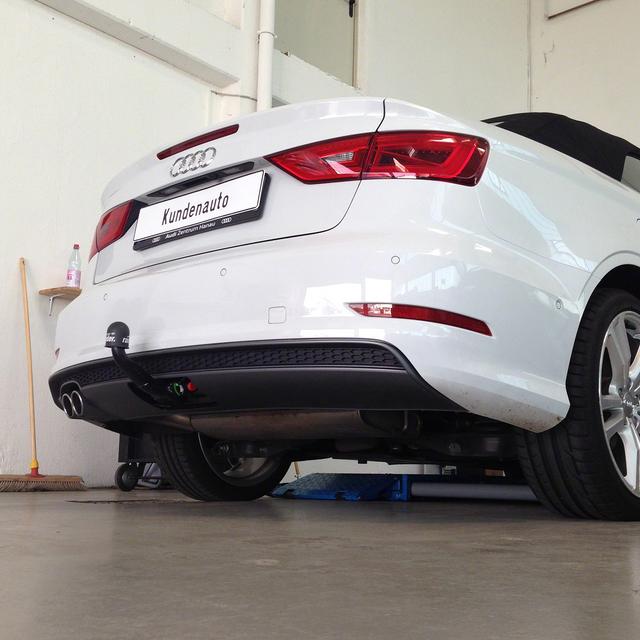 Anhängerkupplung Westfalia abnehmbar Audi A3 Cabrio 2014