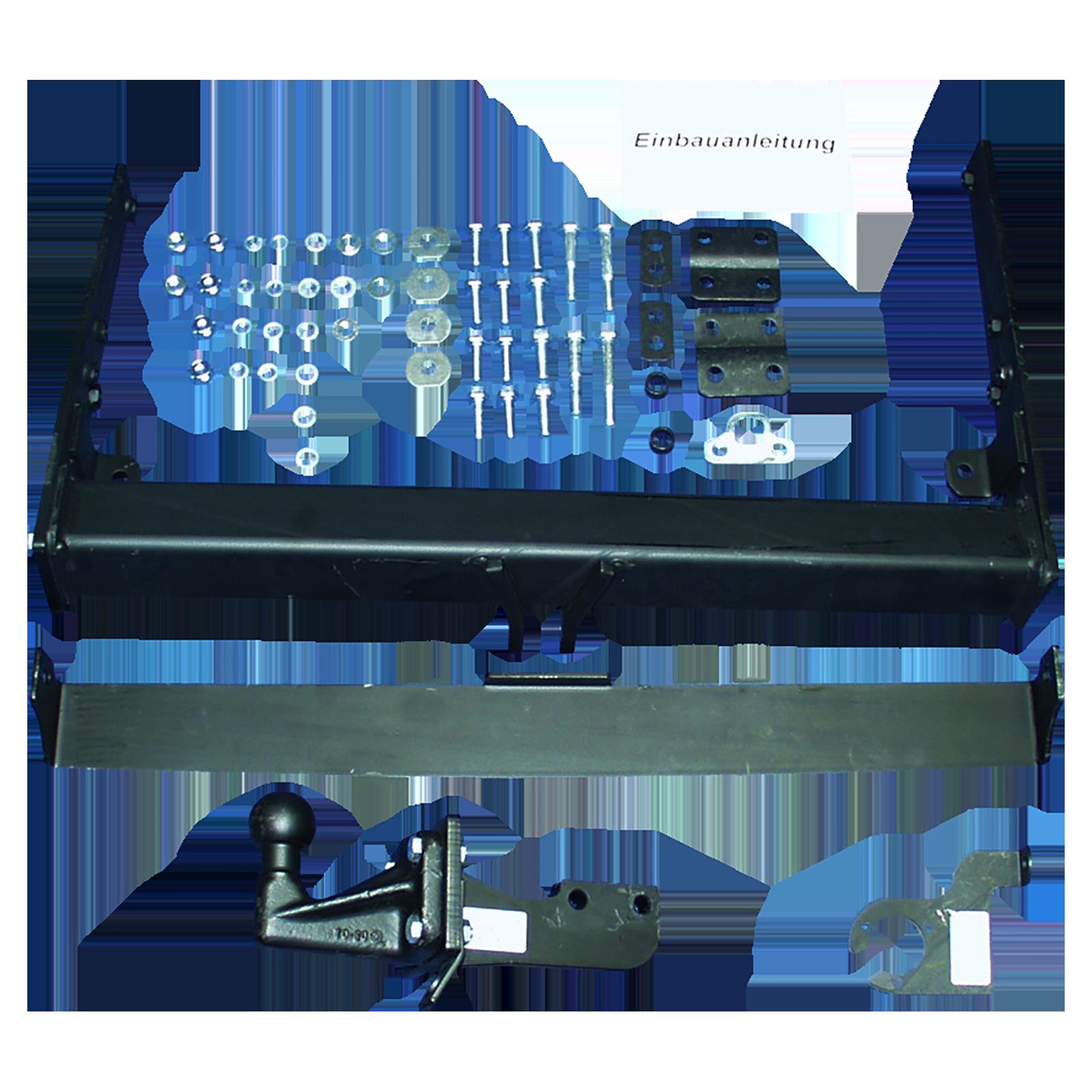 GDW Anhängebock inkl. E Satz 13polig spezifisch Adapter VW TRANSPORTER T5 Kasten
