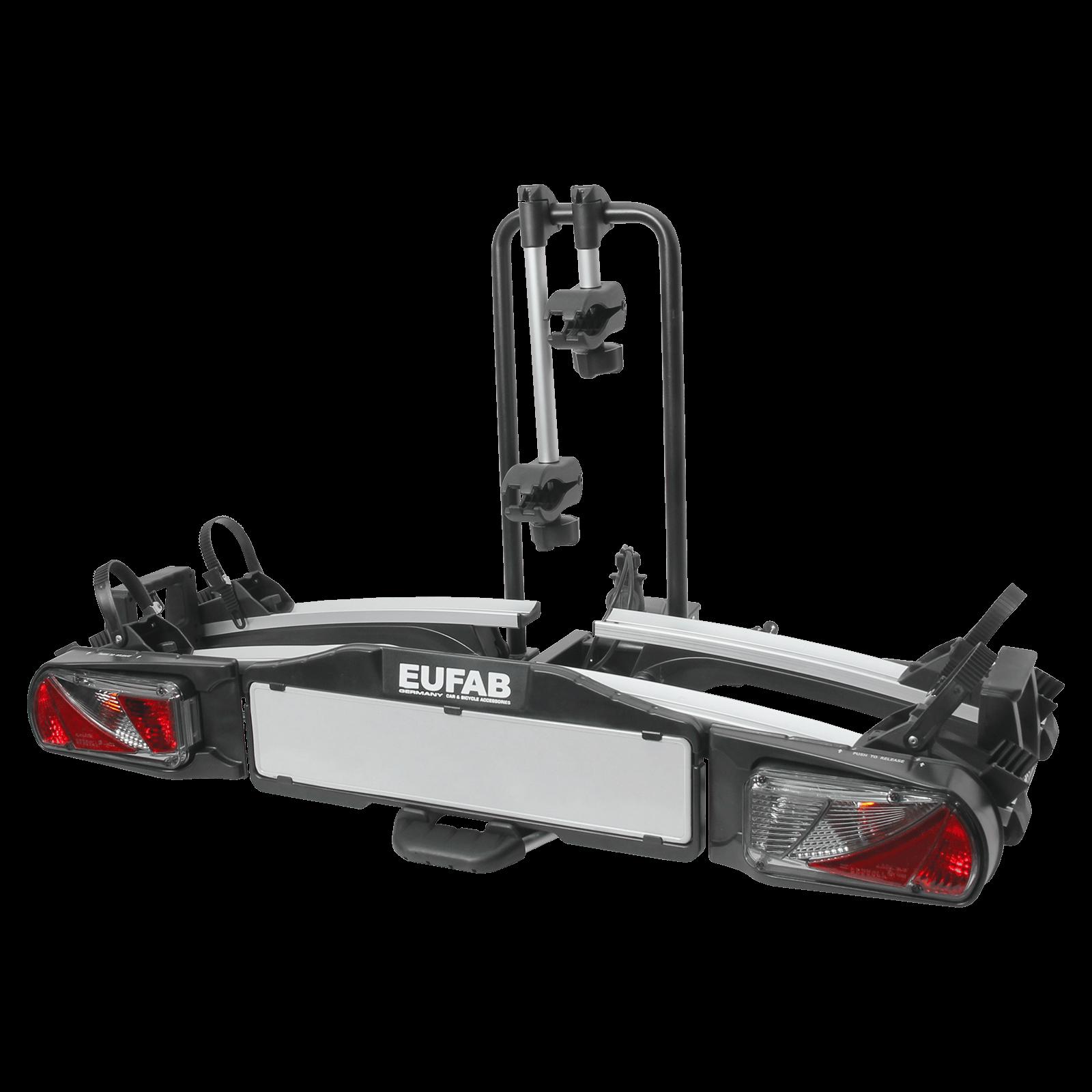 fahrradtr ger eufab premium ii plus f r 2 fahrr der montage auf der anh ngerkupplung nutzlast. Black Bedroom Furniture Sets. Home Design Ideas