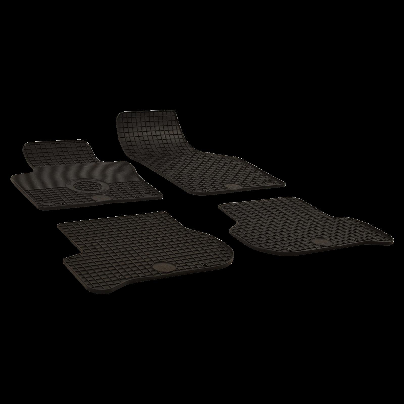 gummi fu matten schwarz f r seat leon bj. Black Bedroom Furniture Sets. Home Design Ideas