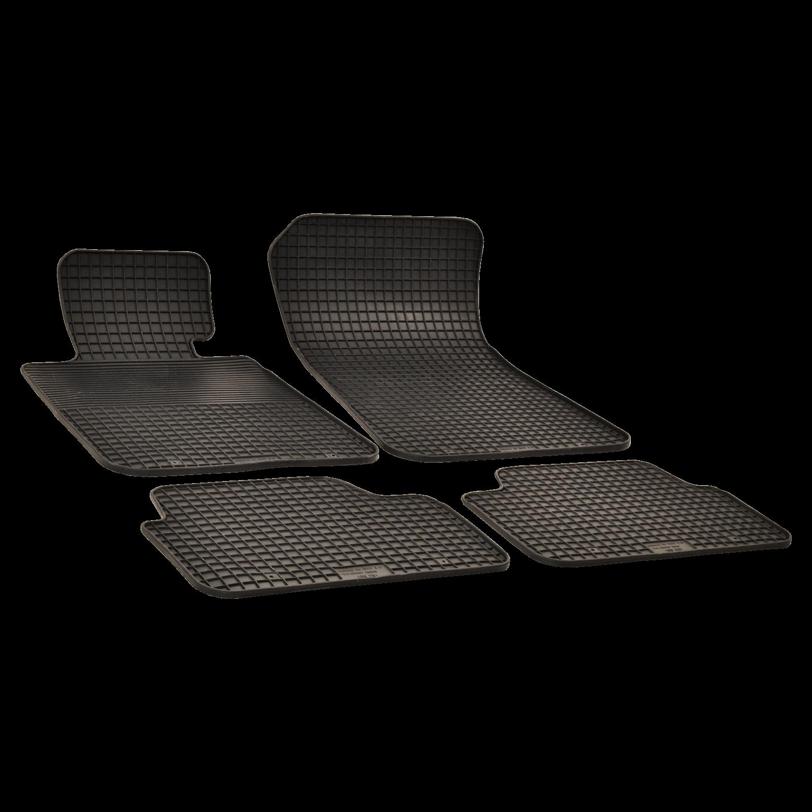 gummi fu matten schwarz f r bmw x1 bj. Black Bedroom Furniture Sets. Home Design Ideas