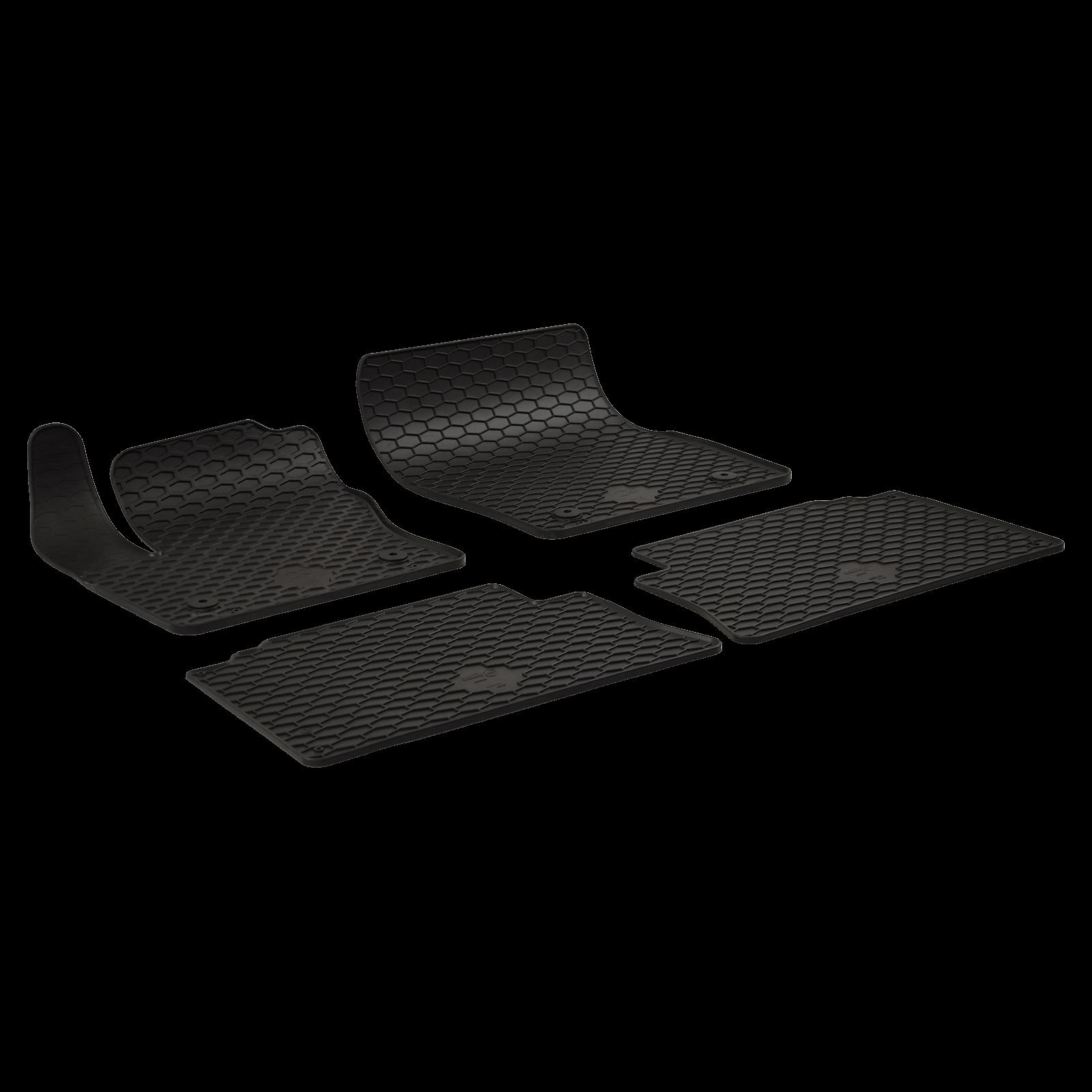 gummi fu matten schwarz f r ford kuga ii bj. Black Bedroom Furniture Sets. Home Design Ideas