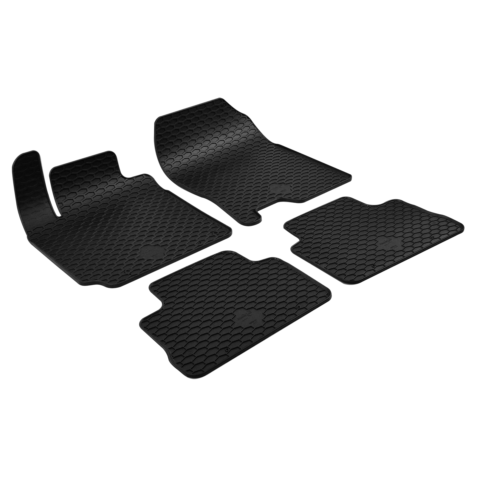 gummi fu matten schwarz f r hyundai kona bj. Black Bedroom Furniture Sets. Home Design Ideas