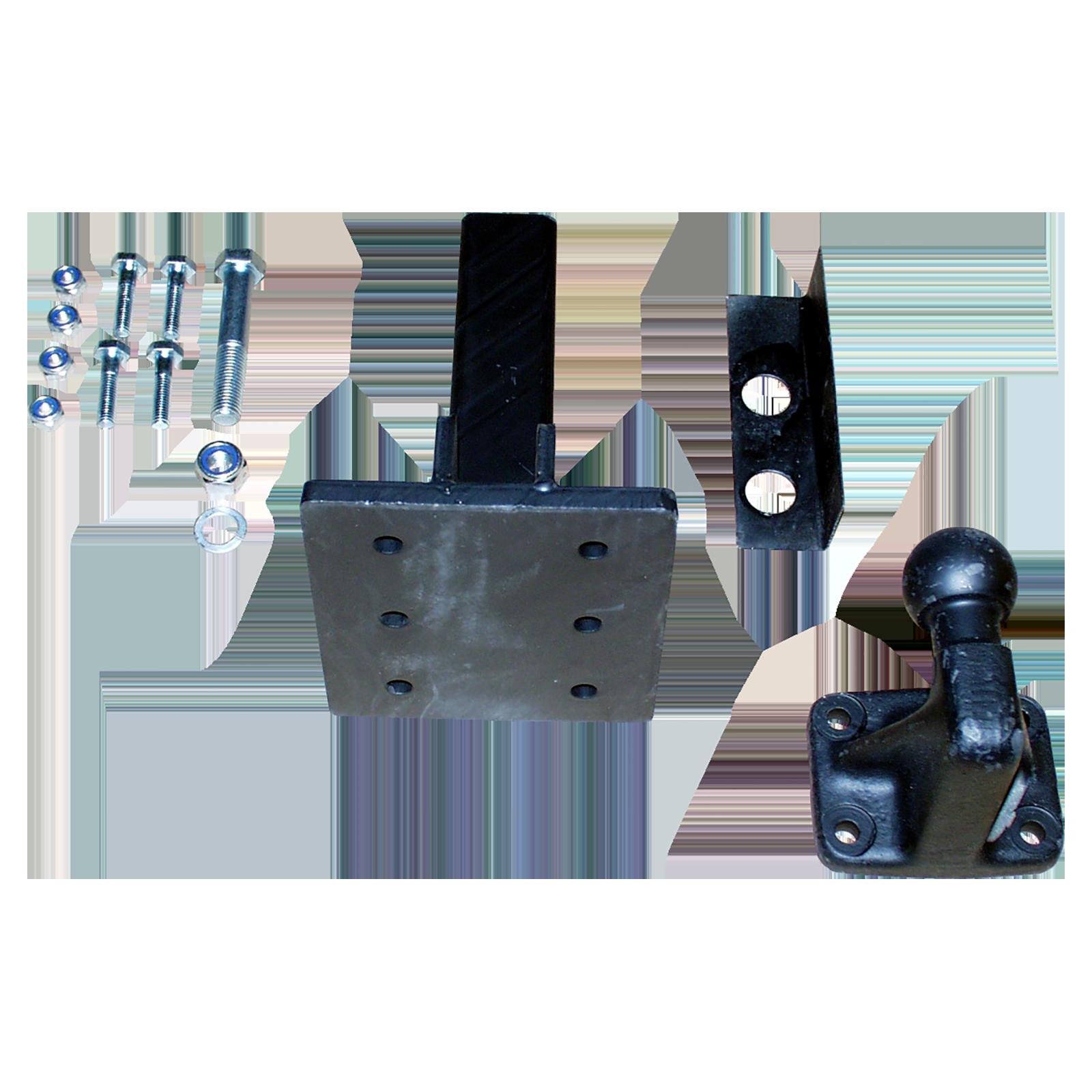 adapter mit 4 loch kugelkopf f r vierkantaufnahme bei. Black Bedroom Furniture Sets. Home Design Ideas