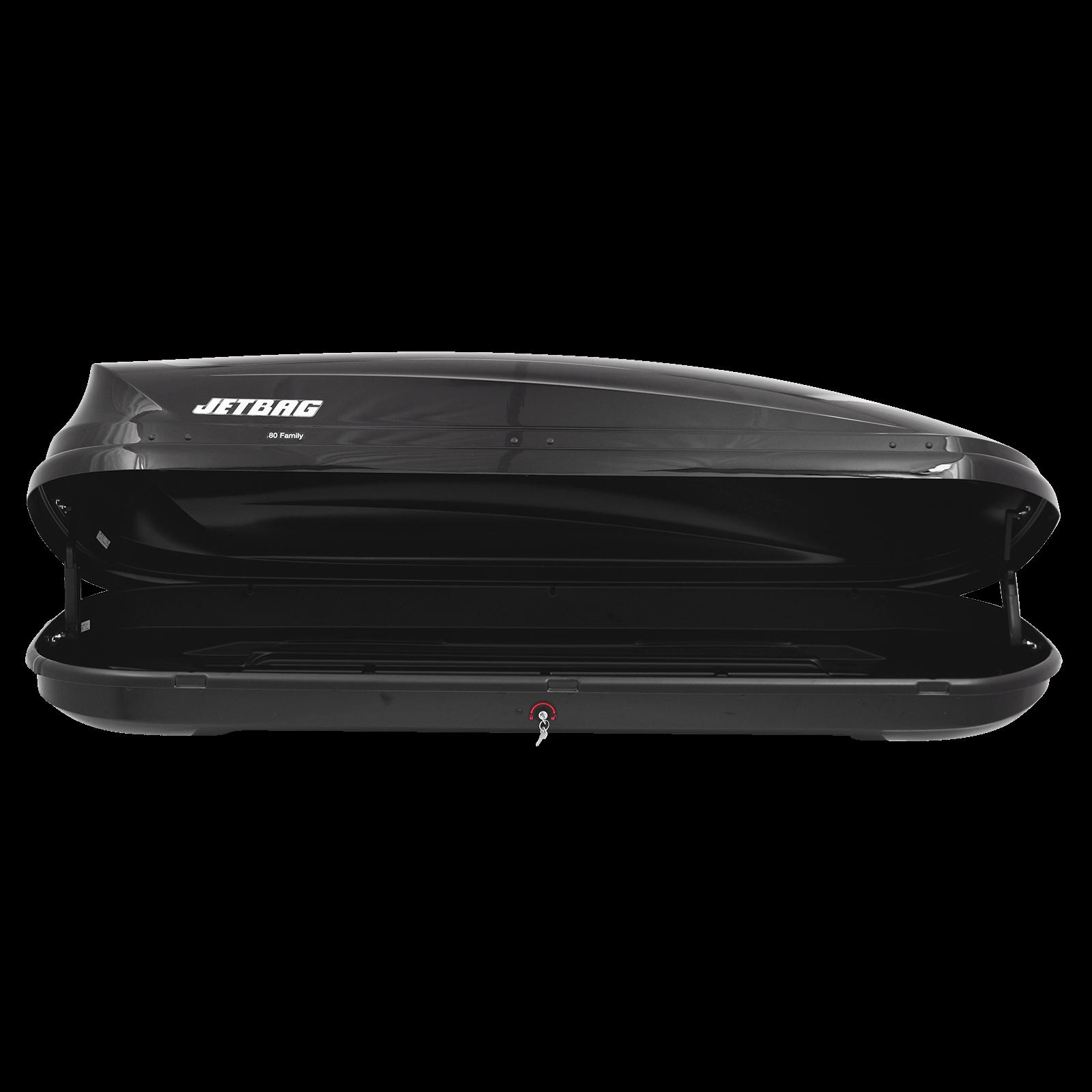 Dachbox Jetbag 80 Family schwarz glänzend - Bild 2