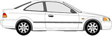 CIVIC VI Coupe (EJ, EM1)